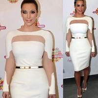New 2014 Plus Size Women Summer Dress Fashion white Sexy Off Shoulder Party Evening Elegant Bodycon Bandage Women's Wear S/XXL