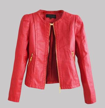 Женщины faux leather jacket Кожа PU является высокотехнологичным и высокосортным ...