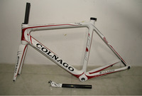 2014 Carbon Road Bike Frame NEW Genuine white+red Colnago M10 carbon frame road bicycle bike Frame+fork+headset free shipping
