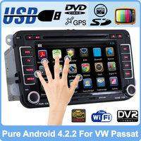 Pure Android 4.2 Car DVD VW Golf 5 6 Polo Passat CC Jetta Tiguan Touran EOS Sharan Scirocco Caddy GPS Navi Radio Built-in WiFi