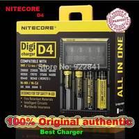 2014 New Nitecore D4  LCD Display Battery Charger Universal NiteCore Charger Fit Li-ion/Ni-MH/Ni-Cd Batteries Free shipping