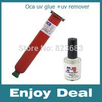 2014 new UV Glue LOCA +uv remove Liquid Optical Clear Adhesive Fix For Cellphone Glass Lens Drop  free shipping