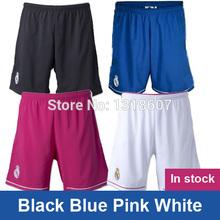 negro azul blanco rosa real madrid pantalones cortos de fútbol 2015 real madrid pantalones cortos deportivos pantalones cortos real madrid jersey a+++ calidad(China (Mainland))