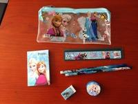 Wholesale! 20set !Frozen princess doll pattern stationery set/school supplies/pencil case/ruler/sticker/eraser/kid gift