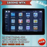 X-SHOP S800MTK 7 inch gps navigation & 4GB AUS/CA/US MAP& RAM 128MB Russia/Belarus/Ukraine/Brazil map