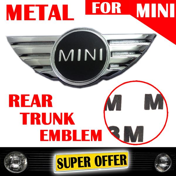 product METAL BLACK RED MINI LOGO CAR REAR BACK TRUNK EMBLEM LOGO STICKER BADGE FOR MINI COOPER COUNTRYMEN CLUBMEN JCW PACEMEN 202