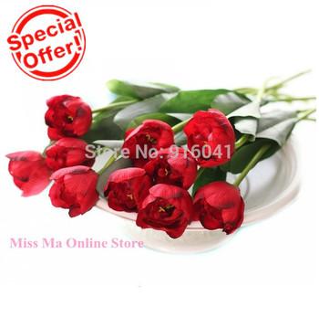 Бесплатная доставка - потрясающие голландия тюльпан декоративный цветок искусственный цветок тюльпан цветок венчания главная отель ну вечеринку событие подарков