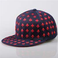 Newest 3D Embroidered Poker Card Pattern Baseball Cap for men/women Hip Hop Street Dancer Skate flat brim hat