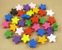 15mm Five-pointed Star Wooden Beads 24pcs/lot  028006017