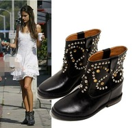 spring and autumn  NEW fashion 2014 European style Rivets women Boots women's martin boots flat vintage buckle motorcycle boots