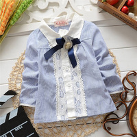 Korean spring and autumn baby girls Cardigan jacket,Children fashion polka dot blouses,shirt .V1077/V1191