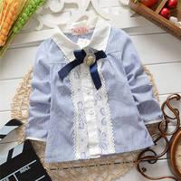 Korean spring and autumn baby girls Cardigan jacket,Children fashion polka dot blouses,shirt .V1077/V1191