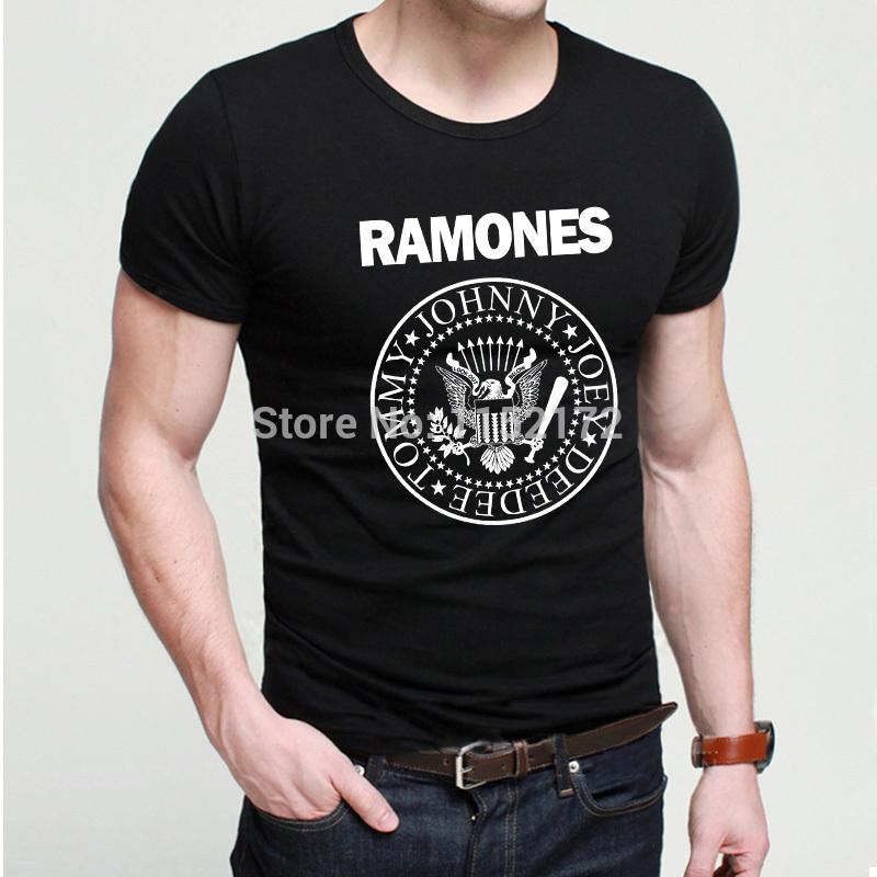 Cool custom design rock hip hop t shirts popular brand ramones t shirt
