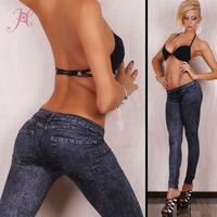 2014 Fashion Women's Elastic Waist Jeans Look  Pants Sexy Plus Size Jeggings  LC7859