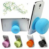 2014 Hot!! Mushroom Mini Wireless Waterproof Silicone Sucker Hands Free Bluetooth Speaker For Phone PC Computer Player