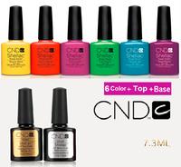 2014 New (8pcs/Lot)*7.3ml CND Shellac UV Nail Gel Polish Soak Off Nail Gel UV 30 Days Long Lasting 73Colors The Best Gel Polish