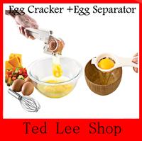 Egg Separator Filter & Separate Eggs Perfectly Good-Bye Shell Chips Handheld Egg Cracker/egg ez cracker/easy cracker FreeShiping