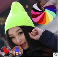 28 Colors Warm Women Men Fancy Acrylic Knit Wrap Ski Beanie Cuff Hats Caps  Drop Shipping