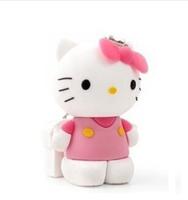 hot sale 8GB usb Hello Cool New cartoon kitty cat model usb 2.0 memory stick thumb pen drive free shipping P1095