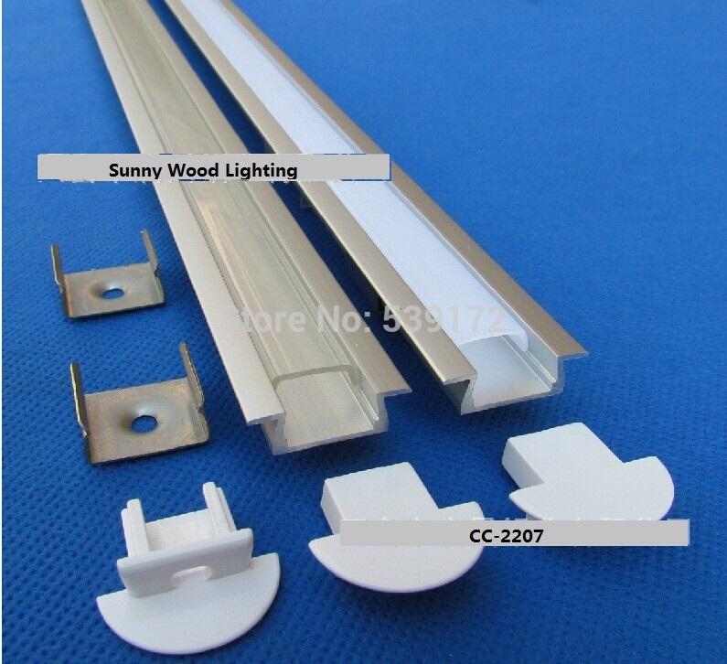 Free shipping 10pcs/lot ,1m long led aluminium profile ,aluminium profile for LED strip 10-12mm ,CC-2207(China (Mainland))