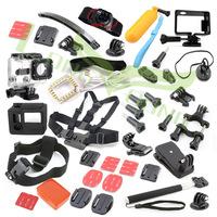 Full gopro accessories mount waterproof case Chest Tripod Floaty battery pole monopod for GoPro hero3  hero4 go pro hero 3+  2