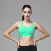 Hot selling newest top quality nylon and spandex women fitness wear sexy women sports bra