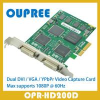 OPR-HD200D Dual 1080P 60Hz DVI VGA YPbPr Video Capture Card, simultaneously capture 2 channelS 1080p 60hz DVI VGA YPbPr signals