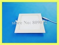 ultra thin square LED panel light lamp LED ceiling panel lamp 18W SMD 2835 90led AC 85-265V high bright free shipping
