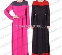 2014 New Arrival Summer Chiffon Muslim Woman Dress,Dubai Long Sleeve Kaftan Dress MU10012