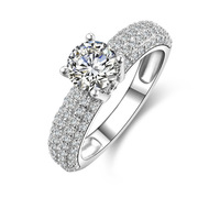 Sterling Silver 1 carat NSCD simulated diamond Engagement / Wedding Rings (MATE R060)