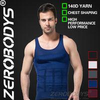 Fast Shipping ZEROBODYS Incredible Men's Body Shaper Firming Panels 140D Vest 107 BU Mens Bodysuits Man The Abdomen Male Girdle