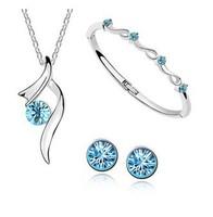 Exquisite three-piece starry element   B11 S002 jewelry sets