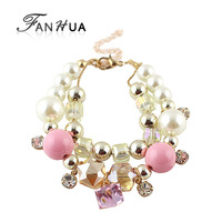 New Arrivals Created Diamond Colorful Beads Bracelet for Women Wholesale Factory Price