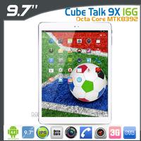 Cube U65gt Talk 9X Octa Core MTK8392 3G Tablet PC 9.7inch Retina OGS 2048x1536 16GB ROM Android 4.4 WCDMA GPS 10000mAh Battery
