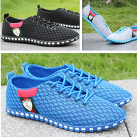New Men Shoes Flat Breathable Spring/Summer Mesh Hollow Out Running Sports Shoes Casual  Men's Sneakers Free Shipping cx870465