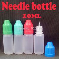 100pcs PE 10ml Plastic Dropper Bottle 1/3 Oz Bottles ego E Cig ce4 With Childproof Cap Empty Dropper Bottles Free Shipping