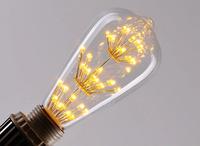 1PCS 3W E27 LED Edison Vintage Incandescent Bulb Light Lamp Personality  ST64  Screw-Mount 110V,220V