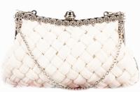 Ivory Bridal Purse,Wedding Clutch,Vintage Style Bridal Clutch with Chain Crystal bolsas femininas women's handbags evening bags