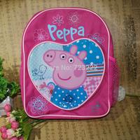 1 pcs! Peppa pig Backpack children school bags, for girls boys children cartoon bag mochila infantil mochila peppa pig bolsas