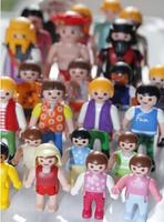 Playmobil toys 7.5cm/5.5cm  30pcs/pack building mobil blocks figures for kids educational play toys for big chirdren 3
