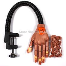 Новый профессиональный тренер ногтей Практика рук Super Flexible Пальцы Личная и салон Регулируемая Практика рук ногтей Обучение F0211