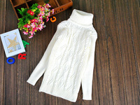 New 2014 children autumn winter turtleneck sweater Knit Elasticity pullover Solid Bottoming sweaters for girls boys xk812