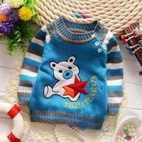 Autumn and winter Children boys Bear pentagram English cartoon pullovers sweaters,retail,V1167