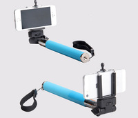 6 Colors Selfie Rotary Extendable Handheld Self-Timer Camera Tripod Mobile Phone Monopod For Iphone 4 5 Samsung With Clip