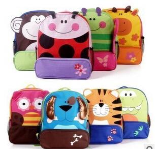 Bigger size animal shaped children backpack children double shoulder school bag kids backpack dinosaur tiger butterfly dog(China (Mainland))