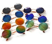 Men Women Vintage Round Peace Sunglasses Hippie Shades Hippy 60S John Lennon Style