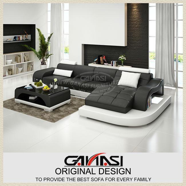 Online kopen Wholesale bruin lederen woonkamer meubels uit China bruin ...