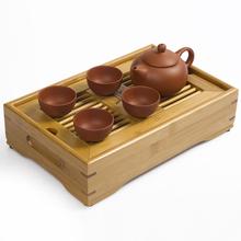 JiaLe Free Shipping Drinkware ZiShaTea Servic,27*17*6.5CM BambooTea Tray,Teapot,Tea Ceremony,Mini-Tea Set Travel High-Quality