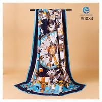 2014 Big Size 140x140cm Fashion Brand Silk Square Scarf Women  Silk Satin Scarves silk Shawl  Print High Quality #013 2 7 8 5