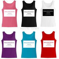 New Summer Harlem Ballinciaga Women Tank Tops Cotton Womens Top Free Shipping